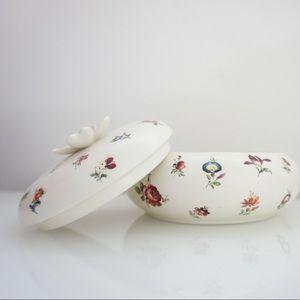 Vintage Storage & Organization - '80s vintage | floral ceramic catchall